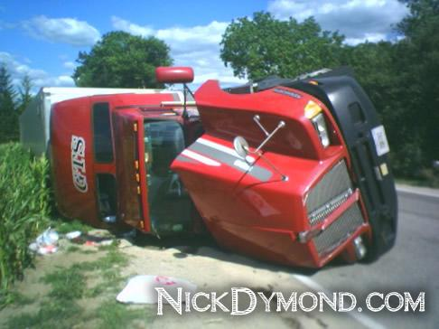 Dymond-Web-Solutions-Semi-Truck-Rollover